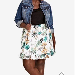 Jungle Study Skirt by City Chic